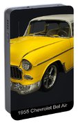 1955 Chevy Bel Air Harvest Gold Portable Battery Charger