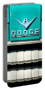 1955 Dodge C-3-b8 Pickup Truck Grille Emblem Portable Battery Charger by Jill Reger