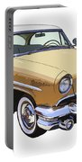 1955 Lincoln Capri Fine Art Illustration  Portable Battery Charger