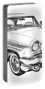 1955 Lincoln Capri Luxury Car Illustration Portable Battery Charger