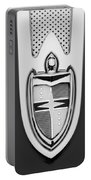 1955 Lincoln Indianapolis Boano Coupe  Emblem -0283bw Portable Battery Charger