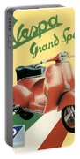 1955 - Vespa Grand Sport Motor Scooter Advertisement - Color Portable Battery Charger