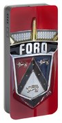 1956 Ford Fairlane Emblem Portable Battery Charger