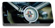 1956 Lincoln Continental Mark II Hess And Eisenhardt Convertible Steering Wheel Emblem Portable Battery Charger