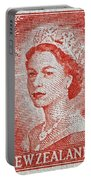 1956 Queen Elizabeth New Zealand Stamp Portable Battery Charger