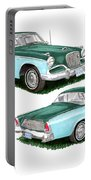 1956 Studebaker Coming And Going Portable Battery Charger
