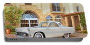 1956 Thunderbird At Palm Beach  Classic Vintage Ford Art Sketch Rendering          Portable Battery Charger