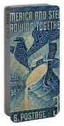 1957 America And Steel Growing Together Stamp Portable Battery Charger