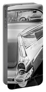 1957 Chevrolet Belair Coupe Tail Fin -019bw Portable Battery Charger