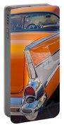 1957 Chevrolet Belair Taillight Emblem -019c Portable Battery Charger