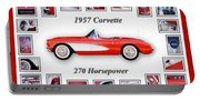 1957 Chevrolet Corvette Art Portable Battery Charger