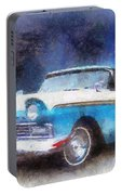 1957 Ford Classic Car Photo Art 02 Portable Battery Charger