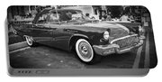 1957 Ford Thunderbird Convertible Bw Portable Battery Charger