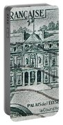 1957 Palais Del Elysee Paris Stamp Portable Battery Charger