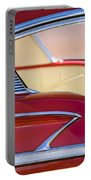 1958 Chevrolet Belair Abstract Portable Battery Charger