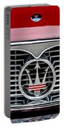1958 Maserati Hood Emblem Portable Battery Charger
