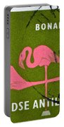 1958 Netherlands Antilles Flamingoes Stamp - Curacao Postmark Portable Battery Charger