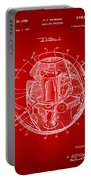 1958 Space Satellite Structure Patent Red Portable Battery Charger
