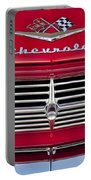 1959 Chevrolet Grille Ornament Portable Battery Charger by Jill Reger