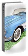 1959 Corvette Frost Blue Portable Battery Charger