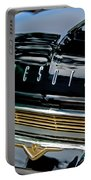 1959 Desoto Adventurer Hood Emblem Portable Battery Charger by Jill Reger