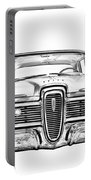 1959 Edsel Ford Ranger Illustration Portable Battery Charger
