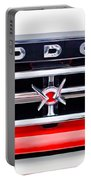 1960 Dodge Truck Grille Emblem Portable Battery Charger by Jill Reger
