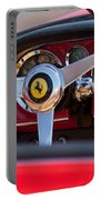 1960 Ferrari 250 Gt Cabriolet Pininfarina Series II Steering Wheel Emblem Portable Battery Charger by Jill Reger