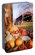 1960s Harvest Display Of Pumpkins Portable Battery Charger