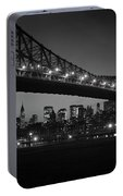 1960s Queensboro Bridge And Manhattan Portable Battery Charger