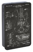 1961 Fender Guitar Patent Artwork - Gray Portable Battery Charger