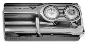 1963 Chevrolet Corvair Monza Spyder Headlight Emblem -0594bw Portable Battery Charger