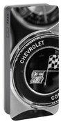 1963 Chevrolet Corvette Split Window Steering Wheel Emblem -170bw Portable Battery Charger