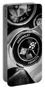 1963 Chevrolet Corvette Split Window Steering Wheel Emblem -309bw Portable Battery Charger