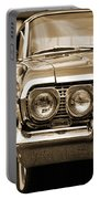 1963 Chevrolet Impala Ss In Sepia Portable Battery Charger