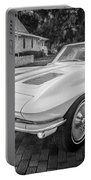 1963 Chevy Corvette Coupe Painted Bw    Portable Battery Charger