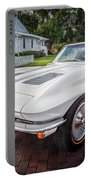 1963 Chevy Corvette Coupe Painted  Portable Battery Charger