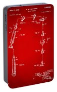 1963 Space Capsule Patent Red Portable Battery Charger