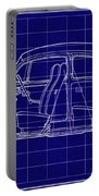 1963 Volkswagon Beetle Blueprint Portable Battery Charger