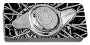 1964 Shelby 289 Cobra Wheel Emblem -0666bw Portable Battery Charger