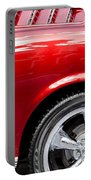 1965 Ford Mustang Really Red Portable Battery Charger