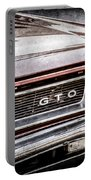 1965 Pontiac Gto Grille Emblem -0442ac Portable Battery Charger