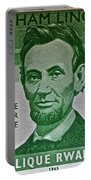 1965 Rwanda Abraham Lincoln Stamp Portable Battery Charger