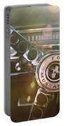 1965 Shelby Prototype Ford Mustang Steering Wheel Emblem Portable Battery Charger by Jill Reger