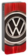 1965 Volkswagen Vw Karmann Ghia Emblem Portable Battery Charger