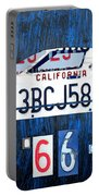 1966 Ford Gt40 License Plate Art By Design Turnpike Portable Battery Charger