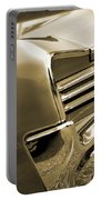 1966 Pontiac Gto Tail In Sepia Portable Battery Charger