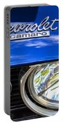 1967 Chevrolet Camaro Ss 350 Headlight - Hood Emblem  Portable Battery Charger