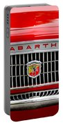 1967 Fiat Abarth 1000 Otr Grille Portable Battery Charger by Jill Reger