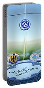 1967 Volkswagen Vw Karmann Ghia Hood Emblem Portable Battery Charger